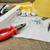 çizimler · araçları · proje · tablo · iş · ev - stok fotoğraf © taden
