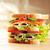 вкусный · сэндвич · свежие · деревянный · стол · таблице · мяса - Сток-фото © taden