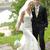 gelin · damat · poz · düğün · çim - stok fotoğraf © taden