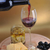 garrafa · de · vinho · queijo · ouro · comida · vidro · cozinha - foto stock © taden