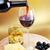 rode · wijn · wijnglas · kaas · olijven · glas · groep - stockfoto © taden