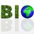 bio · fehér · szó · kék · 3d · illusztráció · egészség - stock fotó © taichesco
