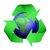 recycle icon covering earth stock photo © TaiChesco
