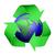 Recycle · икона · земле · 3D · зеленый - Сток-фото © TaiChesco