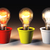 Three different light bulbs stock photo © TaiChesco