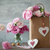 wedding vintage background with pink flowers and hearts stock photo © taiga