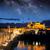 roman bridge and mosque mezquita at night spain europe stock photo © taiga