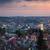 panoramic aerial view of old town at sundown lviv ukraine stock photo © taiga