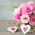 two handmade valentines hearts and beautiful flowers stock photo © taiga