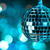 blue disco ball on bokeh background   horizontal stock photo © taiga