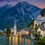 hallstatt village in alps and lake at dusk austria europe stock photo © taiga