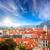 rosso · tetti · Praga · casa · città - foto d'archivio © taiga
