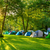 tents camping area early morning beautiful natural place stock photo © taiga
