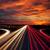 speed traffic at sundown time   light trails on motorway highway stock photo © taiga