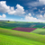 colorful landscape of spring fields background stock photo © taiga