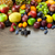 big assortment of fresh organic fruits frame composition on woo stock photo © taiga