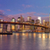 panorama of brooklyn bridge and manhattan skyscrapers at sunrise stock photo © taiga