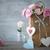 natürmort · pembe · güller · sepet · çiçekler - stok fotoğraf © taiga