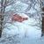winter · landschap · dorp · wolken · sneeuw · bomen - stockfoto © taiga