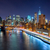 new york city night scene with manhattan skyline and brooklin b stock photo © taiga