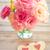 love vintage background   beautiful flowers and two handmade hea stock photo © taiga