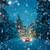 winter driving at snowfall night   lights of car in snowy road stock photo © taiga