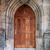 eski · kahverengi · kapı · taş · giriş · ortaçağ - stok fotoğraf © taiga