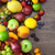 background of colorful fruits with water drops stock photo © taiga
