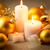 christmas candles background with glitter and baubles stock photo © taiga