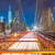 brooklyn bridge at night with cars traffic stock photo © taiga