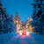 winter driving   lights of car and winter road in night forest stock photo © taiga