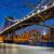 Manhattan · brug · nieuwe · avond · gebouw · zonsondergang - stockfoto © taiga