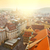 aerial view of prague city with red rooftops stock photo © taiga