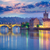 Prague · célèbre · repère · pont · éclairage · eau - photo stock © taiga