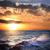 嵐の · 日の出 · ビーチ · 曇った · 日没 · 自然 - ストックフォト © taiga