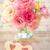 love still life   beautiful eustoma flowers and two handmade hea stock photo © taiga