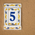 number 5 on cement wall stock photo © taigi