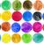 vízfesték · kéz · festett · körök · kör · forma - stock fotó © taigi