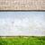 baksteen · trottoir · frame · gras · weg - stockfoto © taigi
