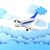 technológia · háttér · repülőgép · repülőtér · felhő · fehér - stock fotó © taiyaki999