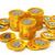 or · bitcoin · pièces · blanche · isolé - photo stock © taiyaki999