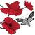abstrato · vermelho · papoula · preto · e · branco · primavera · fundo - foto stock © tanais