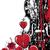 vetor · floral · coração · branco · vermelho · cores - foto stock © tanais