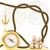 kotwica · łańcucha · liny · obraz · stylizowany · zestaw - zdjęcia stock © tanais