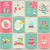 ensemble · 12 · printemps · carte · modèles · affiches - photo stock © tandaV