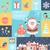 christmas flat icons set stock photo © tandav