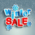 Winter sale inscription with snowflakes. stock photo © tandaV