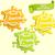 set of lemon orange lime juece labels splash stock photo © tandav