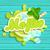 モヒート · ラベル · スプラッシュ · リボン · アイスキューブ · 青 - ストックフォト © tandaV