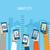 teléfonos · móviles · vector · icono · clip · art · colección - foto stock © tandav